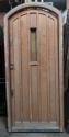DE0689 LOVELY LARGE SOLID OAK TUDOR/ARTS & CRAFTS STYLE DOOR & FRAME - picture 1