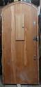 DE0689 LOVELY LARGE SOLID OAK TUDOR/ARTS & CRAFTS STYLE DOOR & FRAME - picture 2