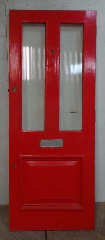 DE0692 A CLASSIC VICTORIAN PANELLED PINE DOOR