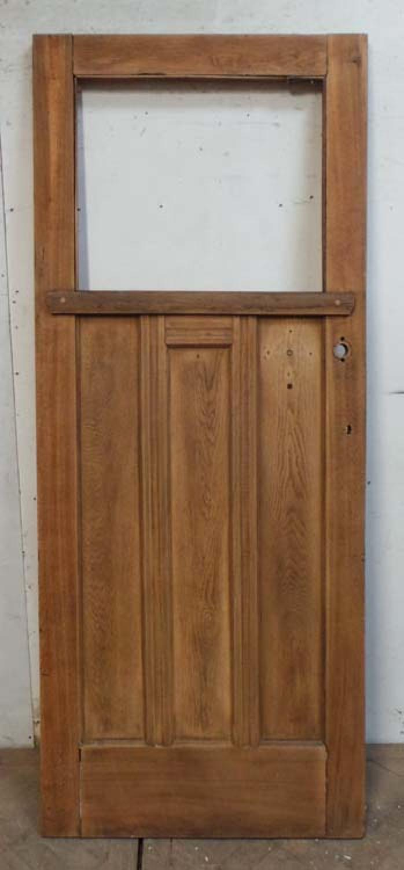 DE0693 ORIGINAL EDWARDIAN ARTS & CRAFTS STYLE OAK PANELLED DOOR