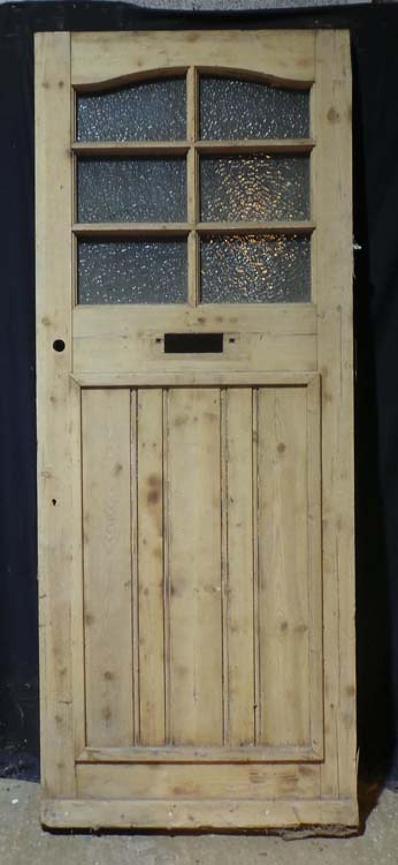 DE0696 A LOVELY EDWARDIAN PANELLED PINE DOOR