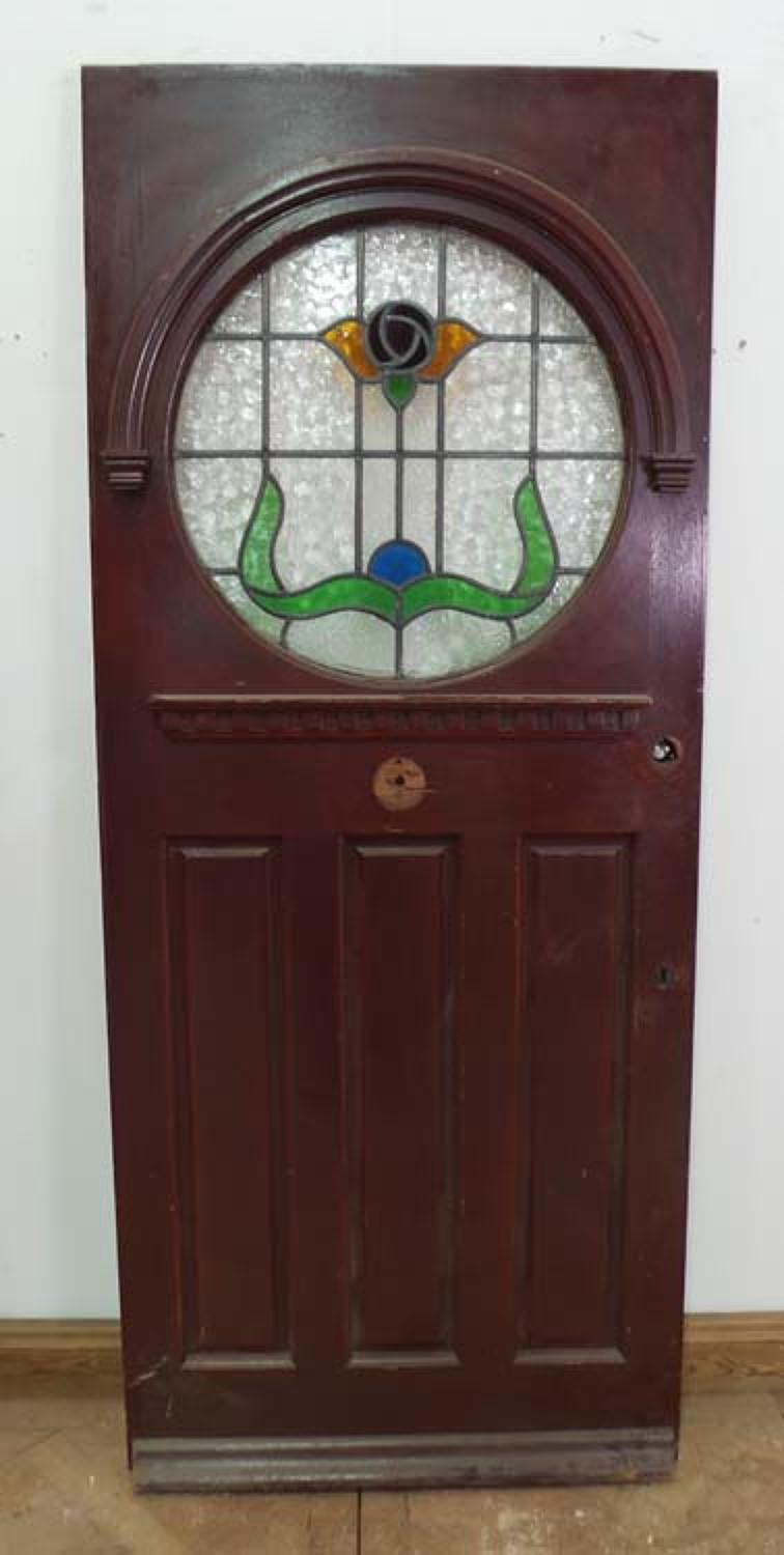 DE0573 STUNNING EDWARDIAN STYLE STAINED GLASS DOOR