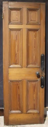 DI0336 A Very Good Quality Pitch Pine, 6 Panel Door
