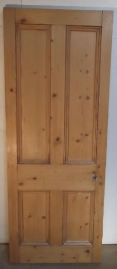 DI0355  A Solid Victorian Stripped Pine, 4 panel, internal door