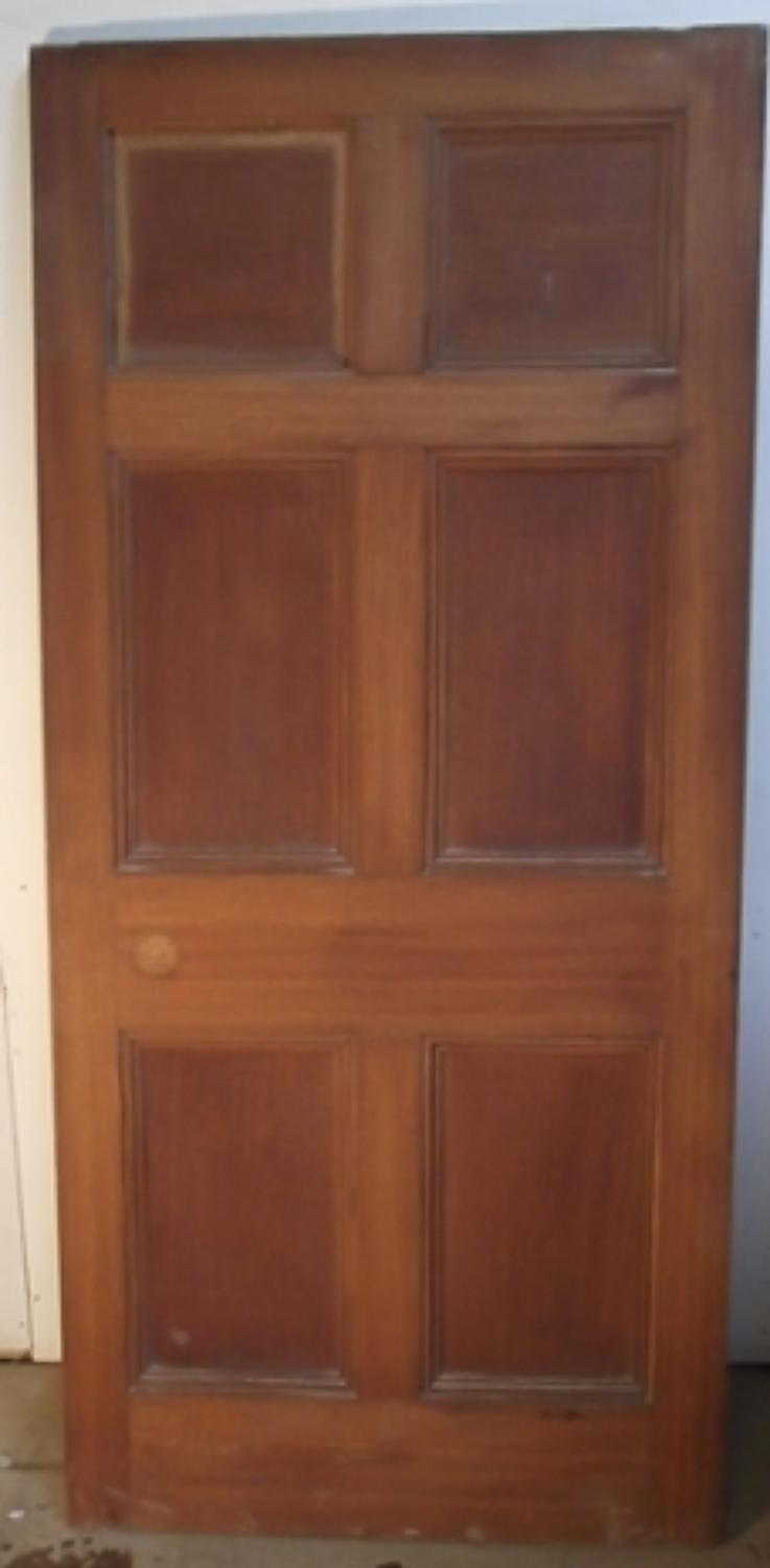 DI0369 A Victorian Oak, 6 Panelled Door for Internal Use