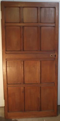DI0370  An Edwardian Oak, Panelled Door for Internal Use, c.1910