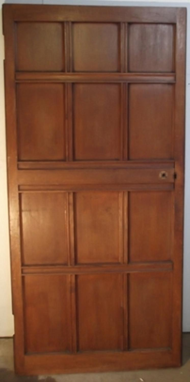 DI0370  An Edwardian Oak, Panelled Door for Internal Use, c.1910