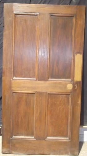 DI0384 Solid Oak 4 Panel Georgian Style Door