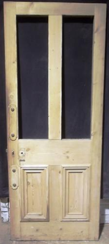 DI0453 A 4 Panel Victorian Stripped Pine Door, for Internal Use
