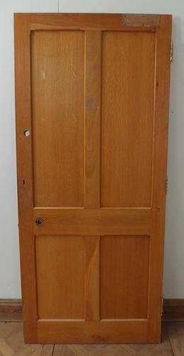 DI0463 LOVELY LATE VICTORIAN/EDWARDIAN SOLID OAK PANELLED DOOR