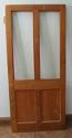 DI0464 LOVELY LATE VICTORIAN/EDWARDIAN PANELLED SOLID OAK GLAZED DOOR - picture 2