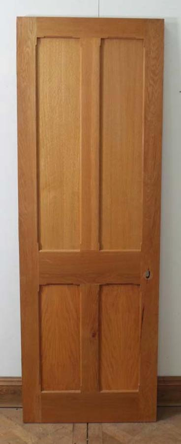 DI0469 LOVELY LATE VICTORIAN/EDWARDIAN SOLID OAK PANELLED DOOR