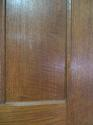 DI0473 LOVELY EDWARDIAN ARTS & CRAFTS STYLE OAK PANELLED DOOR - picture 3