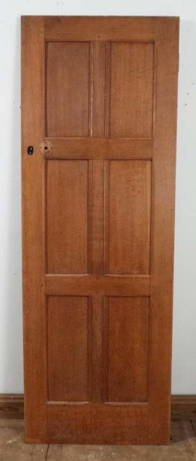 DI0477 LOVELY EDWARDIAN OAK PANELLED DOOR
