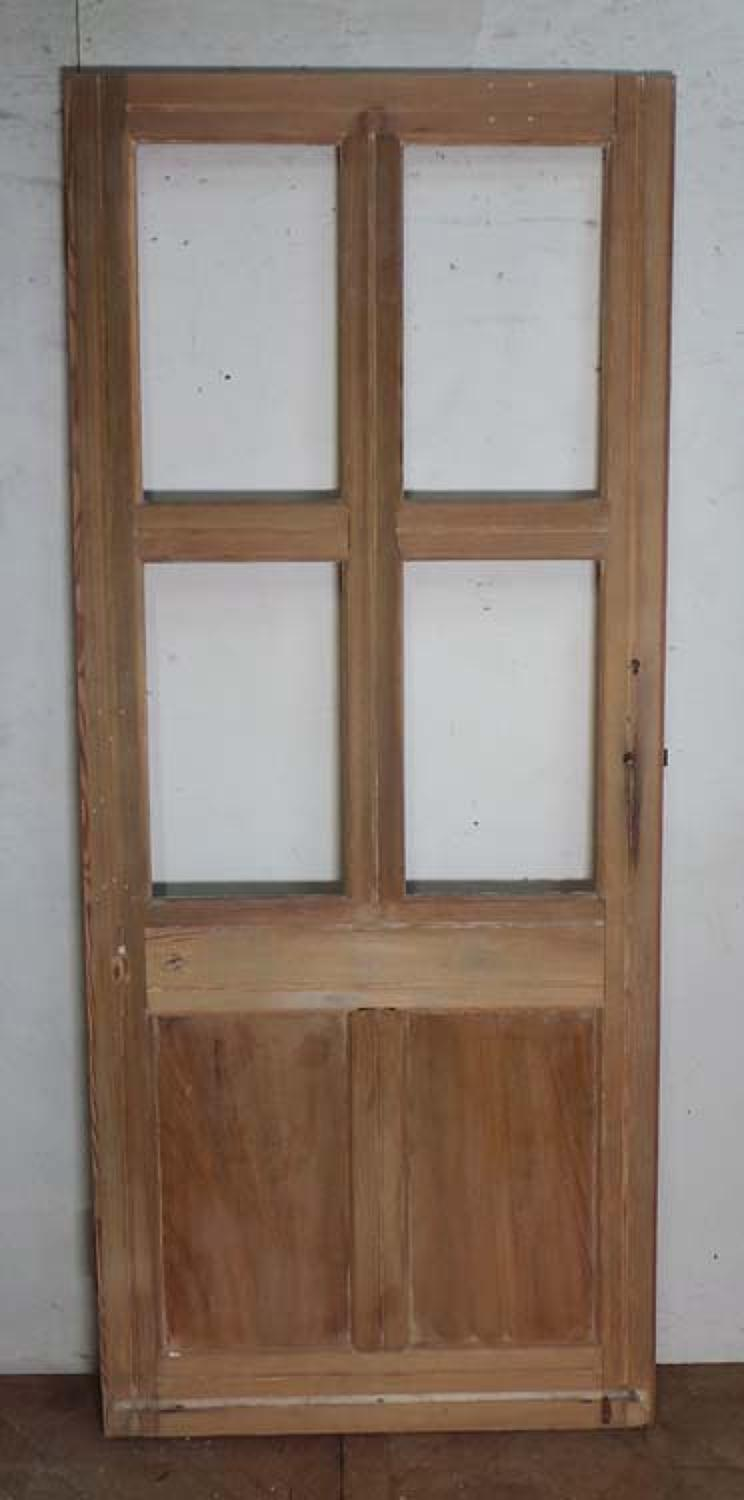 DI0506 A VICTORIAN FRENCH OAK DOOR FOR GLAZING