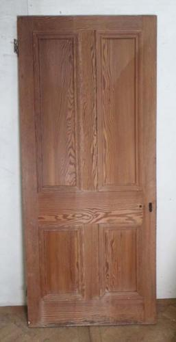 DI0507 LOVELY VICTORIAN FOUR PANEL PITCH PINE DOOR