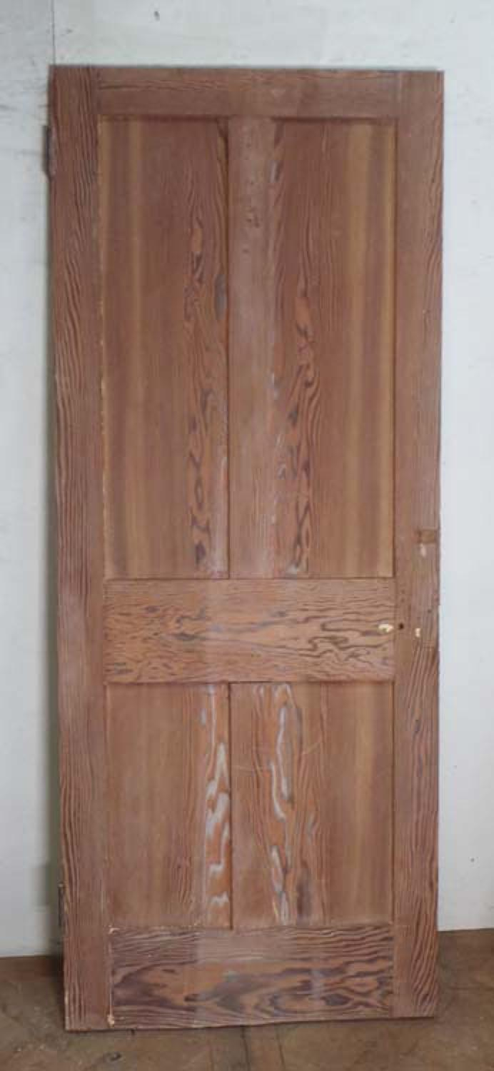 DI0508 LOVELY VICTORIAN FOUR PANEL PITCH PINE DOOR