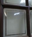 DI0516 LOVELY EDWARDIAN OAK DOOR WITH ETCHED GLAZED PANELS - picture 3