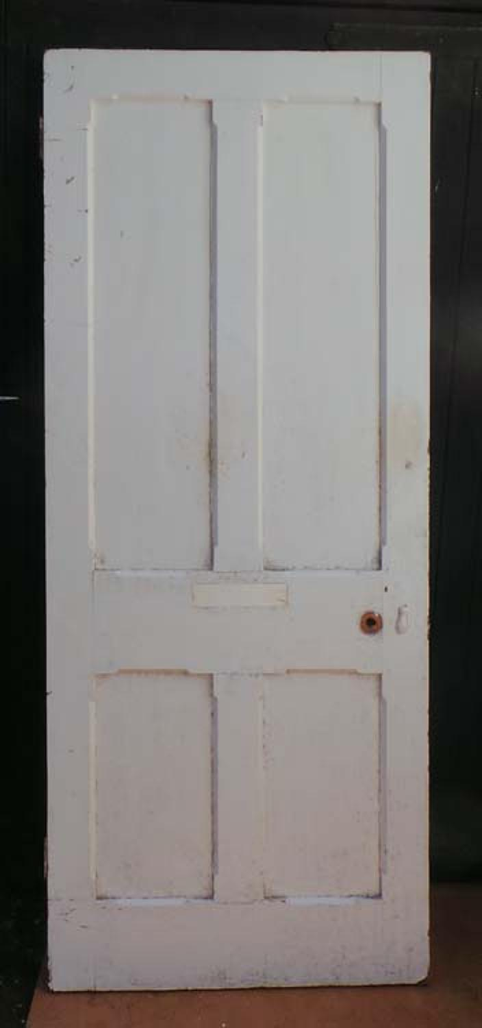 DI0519 LOVELY VICTORIAN PANELLED PINE GOTHIC STYLE DOOR