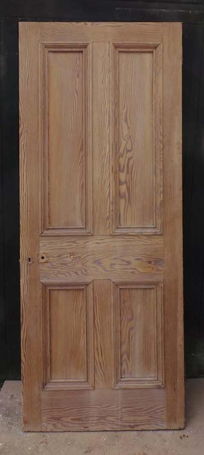 DI0523 LOVELY VICTORIAN PITCH PINE PANELLED DOOR