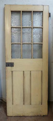 DI0538 A VICTORIAN PINE GLAZED DOOR