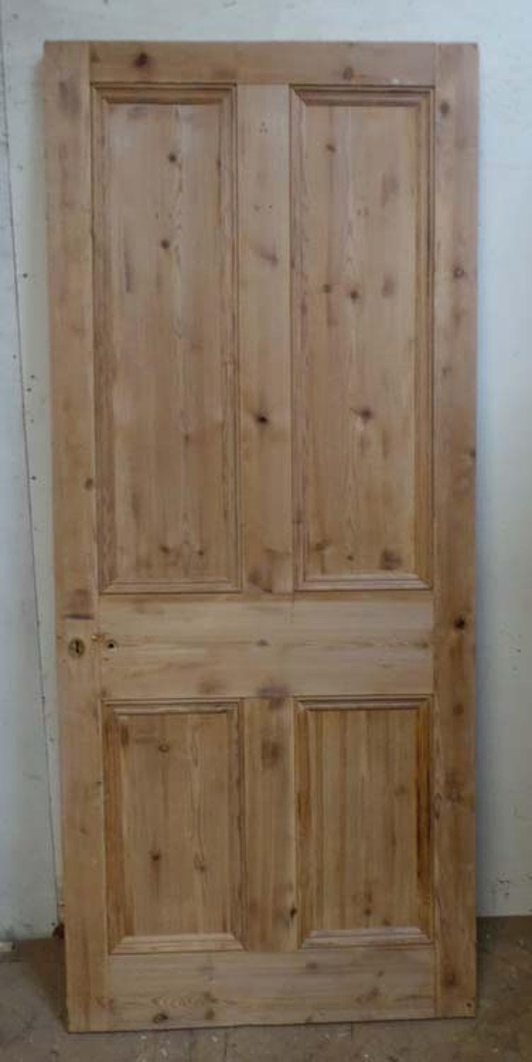 DI0542 LOVELY VICTORIAN PINE FOUR PANELLED DOOR