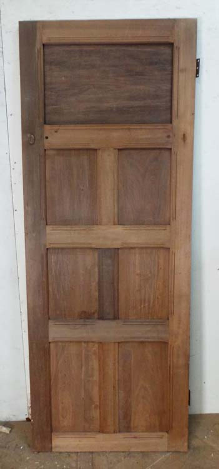 DI0550 EDWARDIAN ARTS & CRAFTS PITCH PINE PANELLED DOOR
