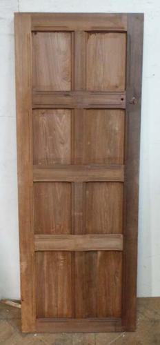DI0551 EDWARDIAN ARTS & CRAFTS PITCH PINE PANELLED DOOR