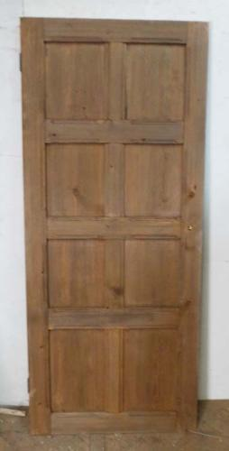 DI0552 EDWARDIAN ARTS & CRAFTS PITCH PINE PANELLED DOOR