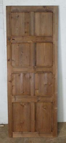 DI0554 EDWARDIAN ARTS & CRAFTS PITCH PINE PANELLED DOOR