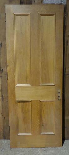 DI0608  LOVELY VICTORIAN STYLE MODERN PANELLED OAK DOOR