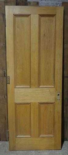 DI0611  LOVELY VICTORIAN STYLE MODERN PANELLED OAK DOOR