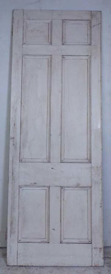 DI0618 A TALL CLASSIC VICTORIAN GOTHIC PANELLED PITCH PINE & OAK DOOR
