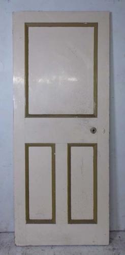 DI0620 UNUSUAL VICTORIAN PINE PANELLED DOOR