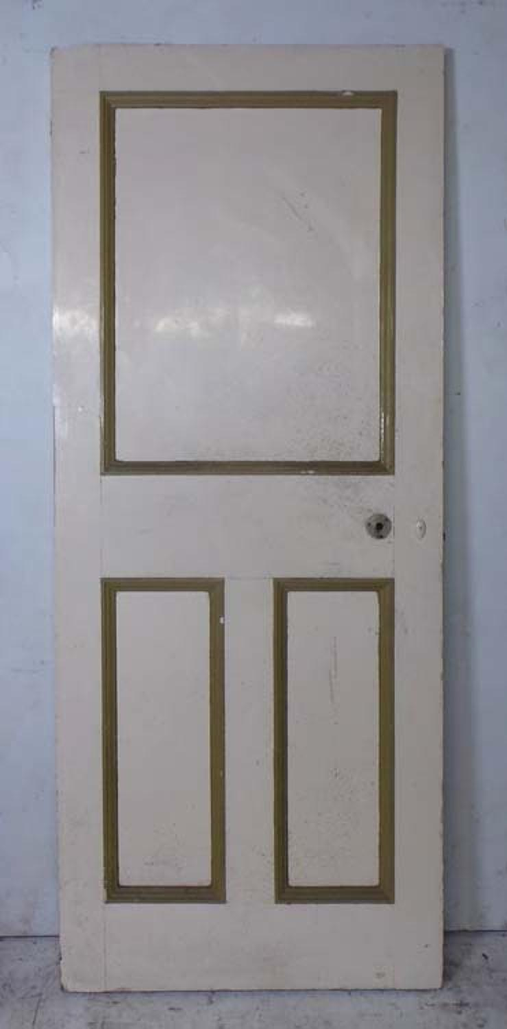 DI0620 UNUSUAL VICTORIAN PINE PANELLED DOOR
