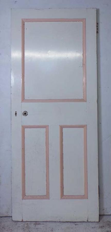 DI0623 UNUSUAL VICTORIAN PINE PANELLED DOOR