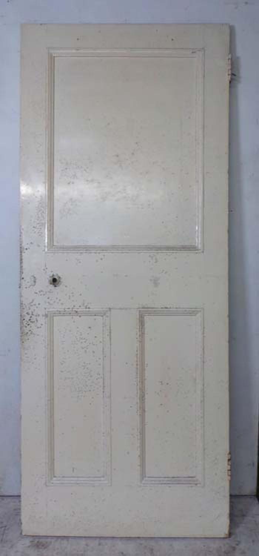 DI0624 UNUSUAL VICTORIAN PINE PANELLED DOOR
