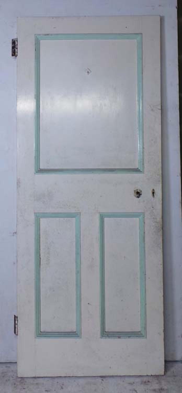 DI0625 UNUSUAL VICTORIAN PINE PANELLED DOOR