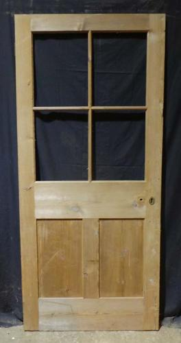 DI0628 LOVELY VICTORIAN PINE DOOR FOR GLAZING