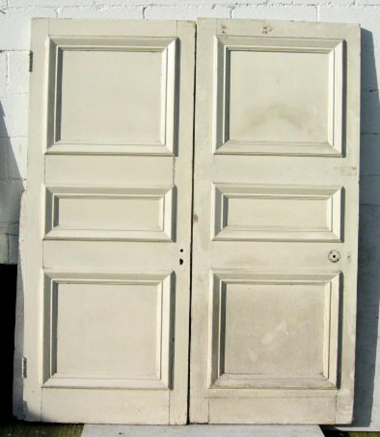DP0020 PAIR OF LOVELY MID-LATE VICTORIAN PANELLED PINE DOORS