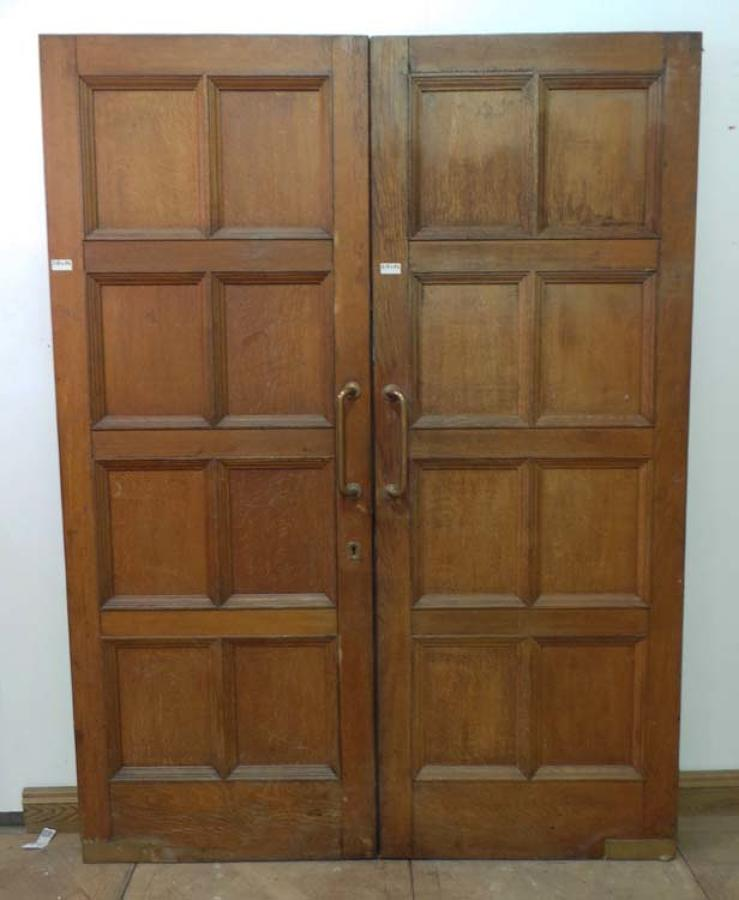 DP0137 LOVELY PAIR OF EDWARDIAN SOLID OAK DOORS