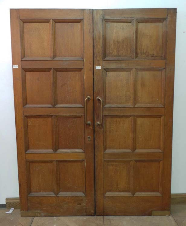 DP0137 LOVELY PAIR OF EDWARDIAN SOLID OAK DOORS