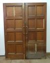 DP0137 LOVELY PAIR OF EDWARDIAN SOLID OAK DOORS - picture 2