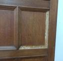 DP0137 LOVELY PAIR OF EDWARDIAN SOLID OAK DOORS - picture 3