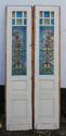 DP0148 STUNNING PAIR OF EUROPEAN ART NOUVEAU STAINED GLASS DOORS - picture 1