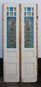 DP0148 STUNNING PAIR OF EUROPEAN ART NOUVEAU STAINED GLASS DOORS - picture 2