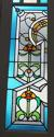 DP0148 STUNNING PAIR OF EUROPEAN ART NOUVEAU STAINED GLASS DOORS - picture 7