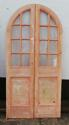 DP0150 LOVELY PAIR OF EDWARDIAN PINE ARCHED GLAZED DOORS - picture 1