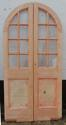 DP0150 LOVELY PAIR OF EDWARDIAN PINE ARCHED GLAZED DOORS - picture 2
