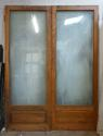 DP0177 LOVELY PAIR OF EDWARDIAN SOLID OAK DOUBLE GLAZED DOORS - picture 2